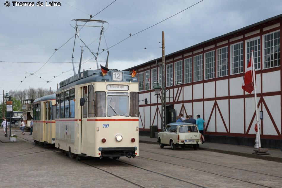 Rostock-vogntog på Sporvejsmuseet