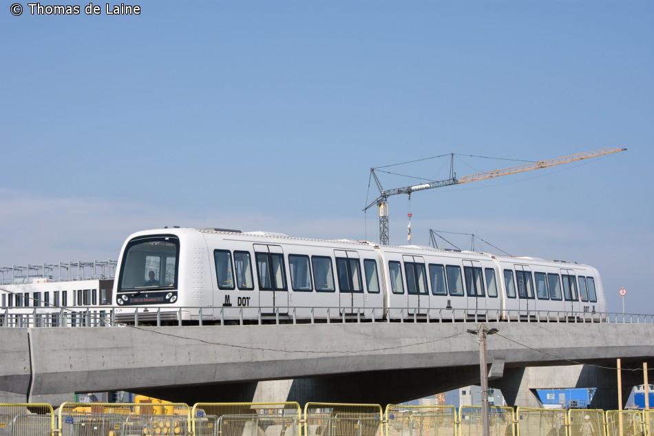 Metrotog ved Orientkaj