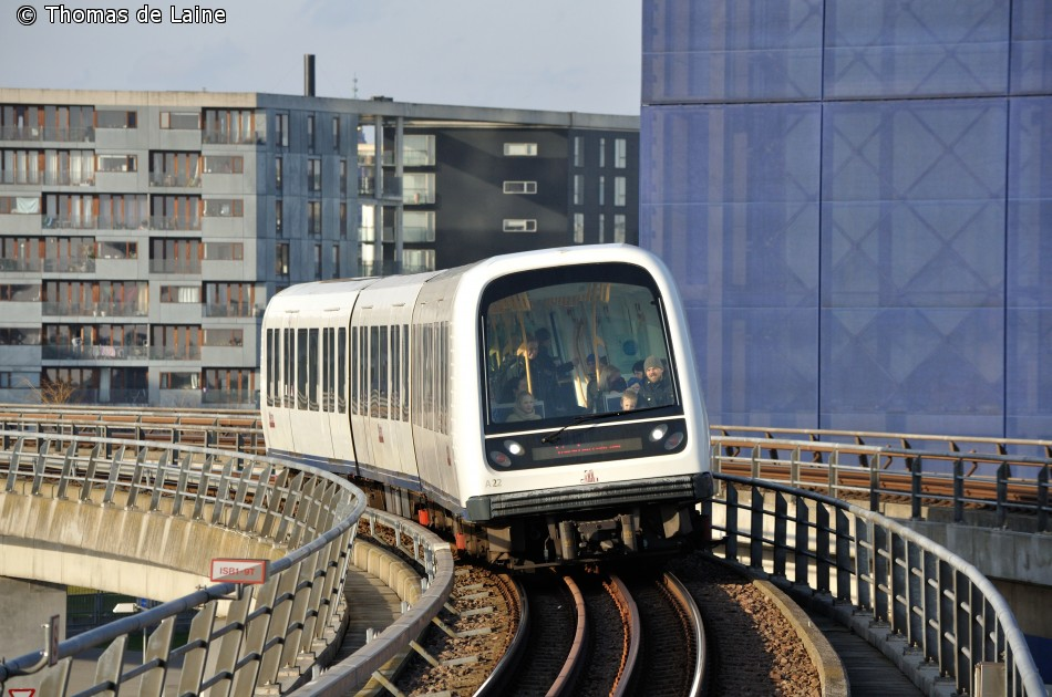 Metrotog ved DR Byen