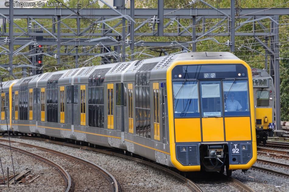 Tangara-tog i Sydney, februar 2013